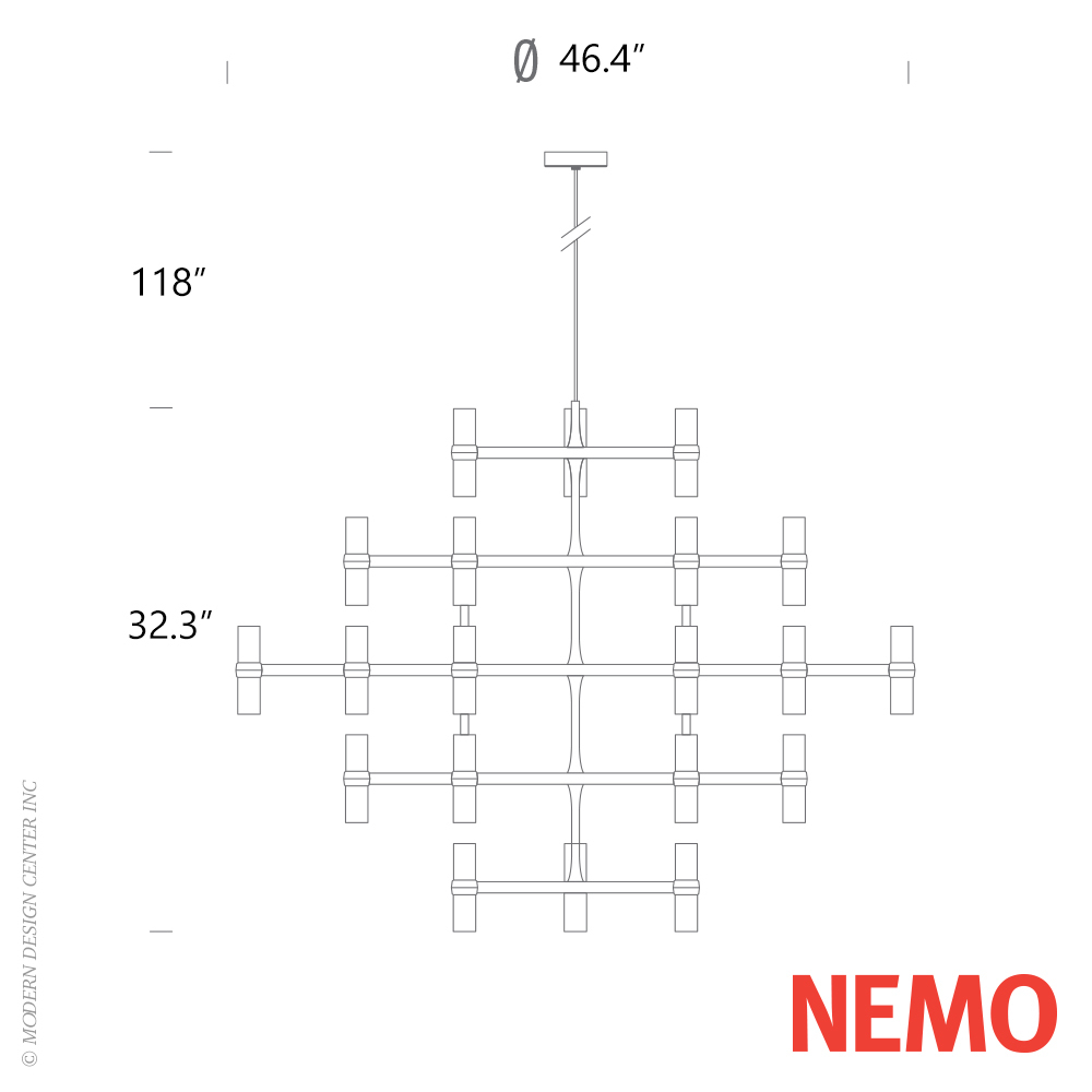 Crown Major Pendant Light Nemo Italianaluce Metropolitandecor