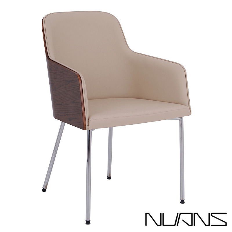 Hudson Arm Plywood Chair Metal Base | Nuans
