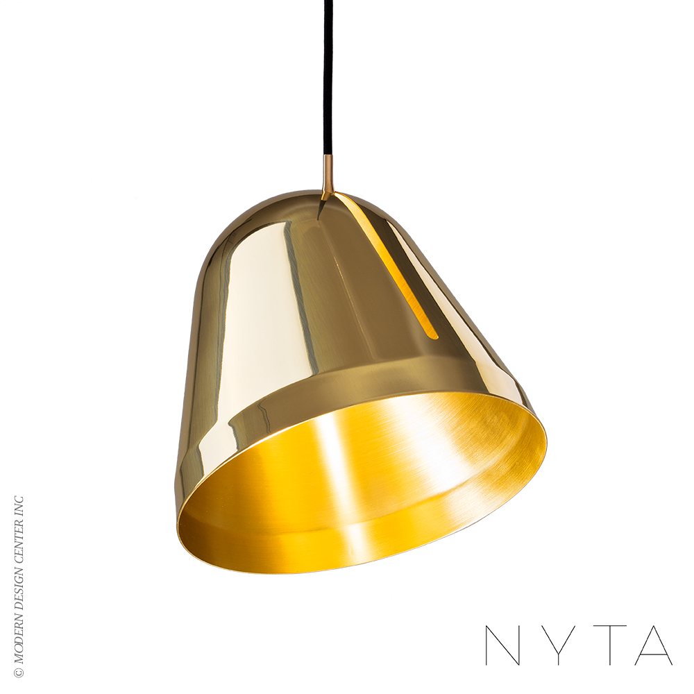 Tilt Brass Pendant Light | Nyta