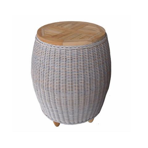 Outdoor Paradise End Table Teak Top | Padma's Plantation
