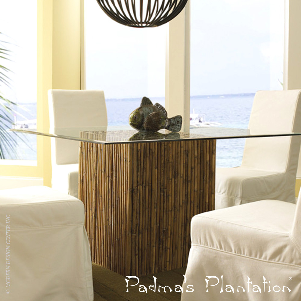 Bamboo Stick Dining Table | Padma's Plantation