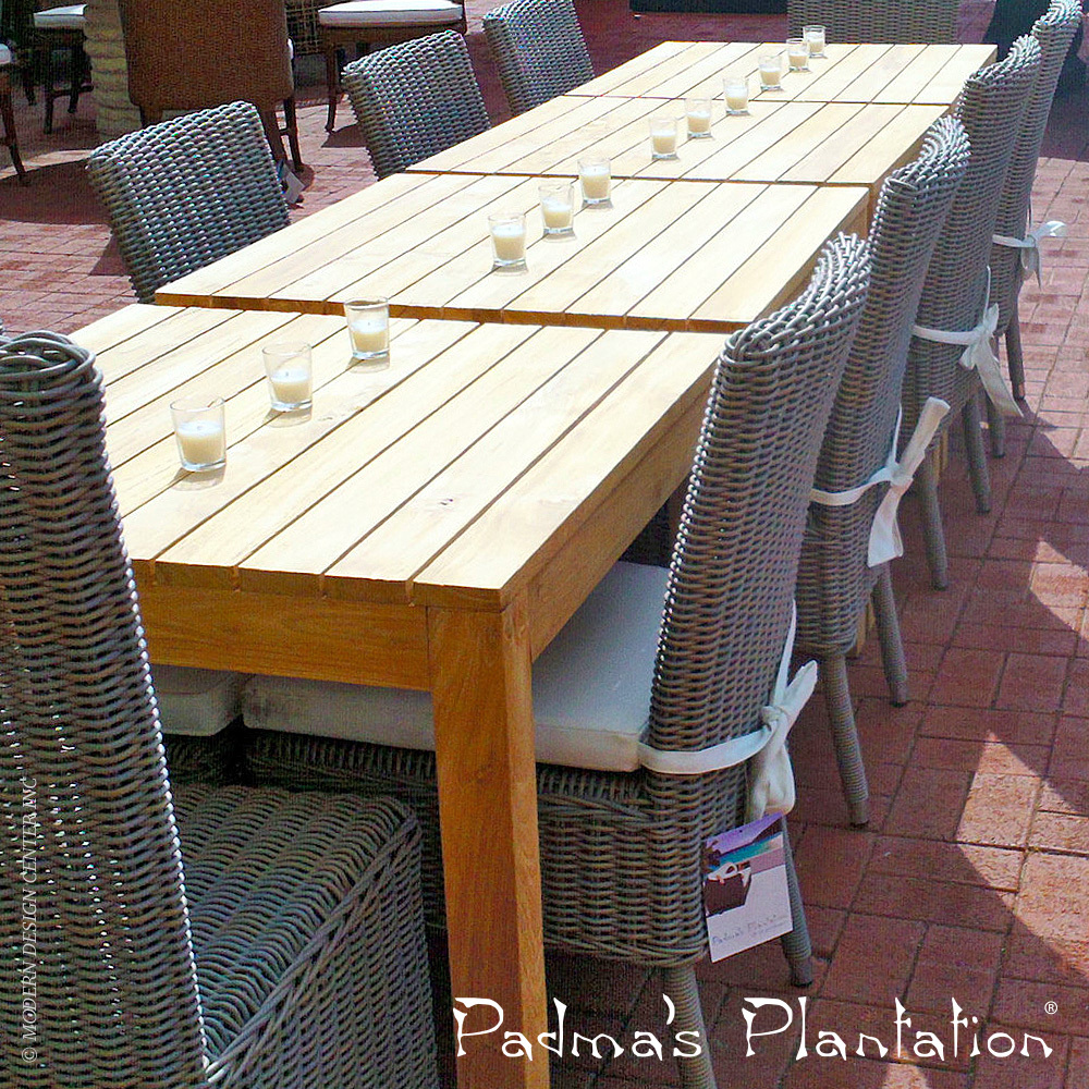 Outdoor Rustic Teak Dining Table | Padma's Plantation