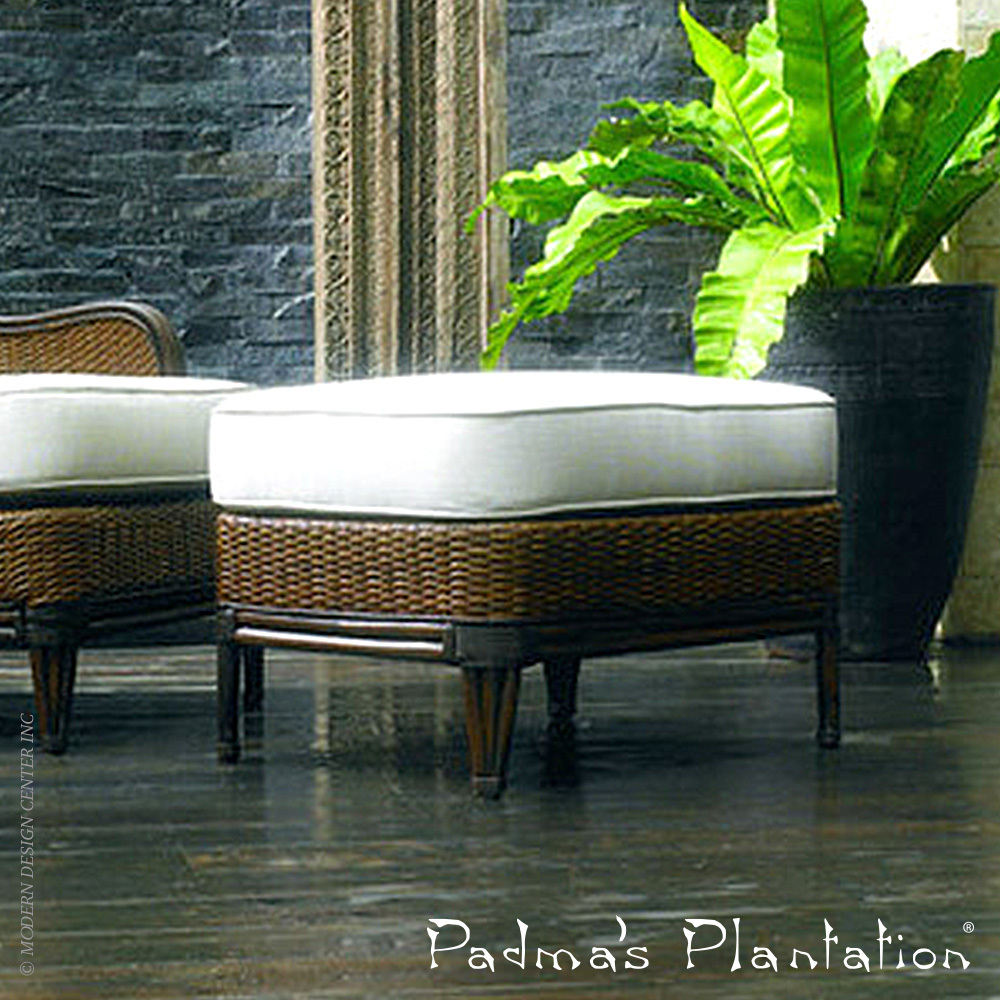 Palm Beach Outdoor Ottoman | Padma's Plantation