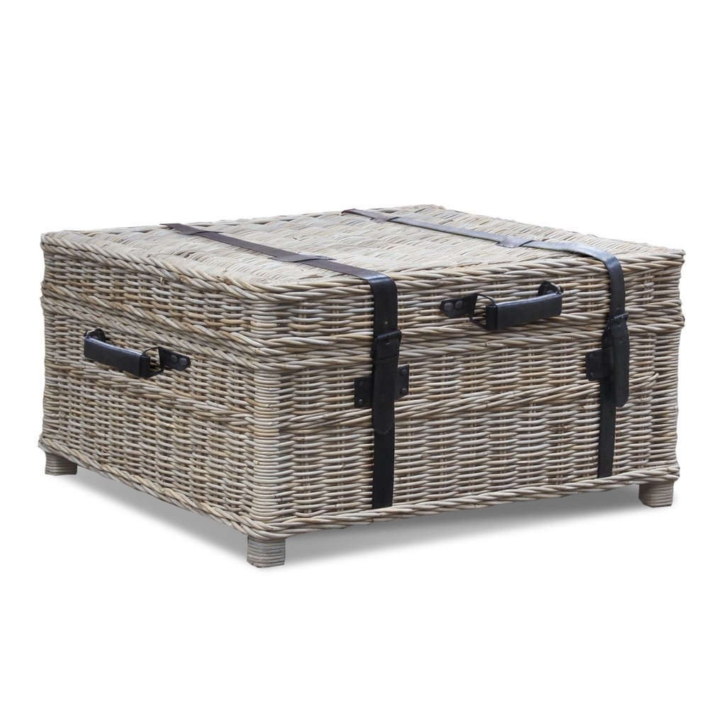 Woven Coffee Table Trunk | Padma's Plantation