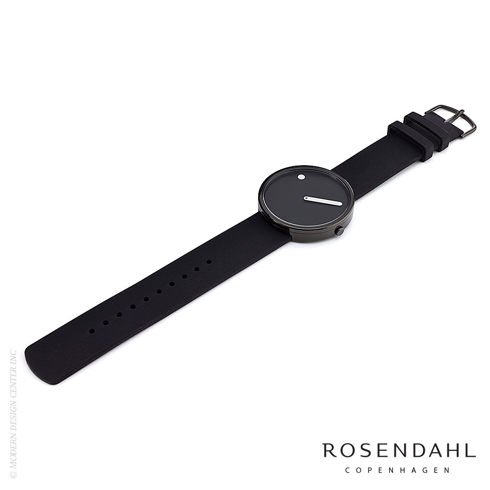 Picto Analog 40mm Watch Black/Black | Rosendahl
