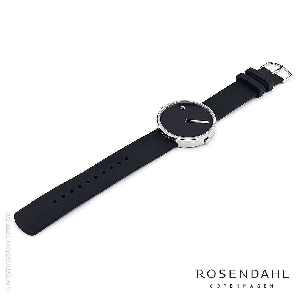 Picto Analog 40mm Watch Black/Steel | Rosendahl