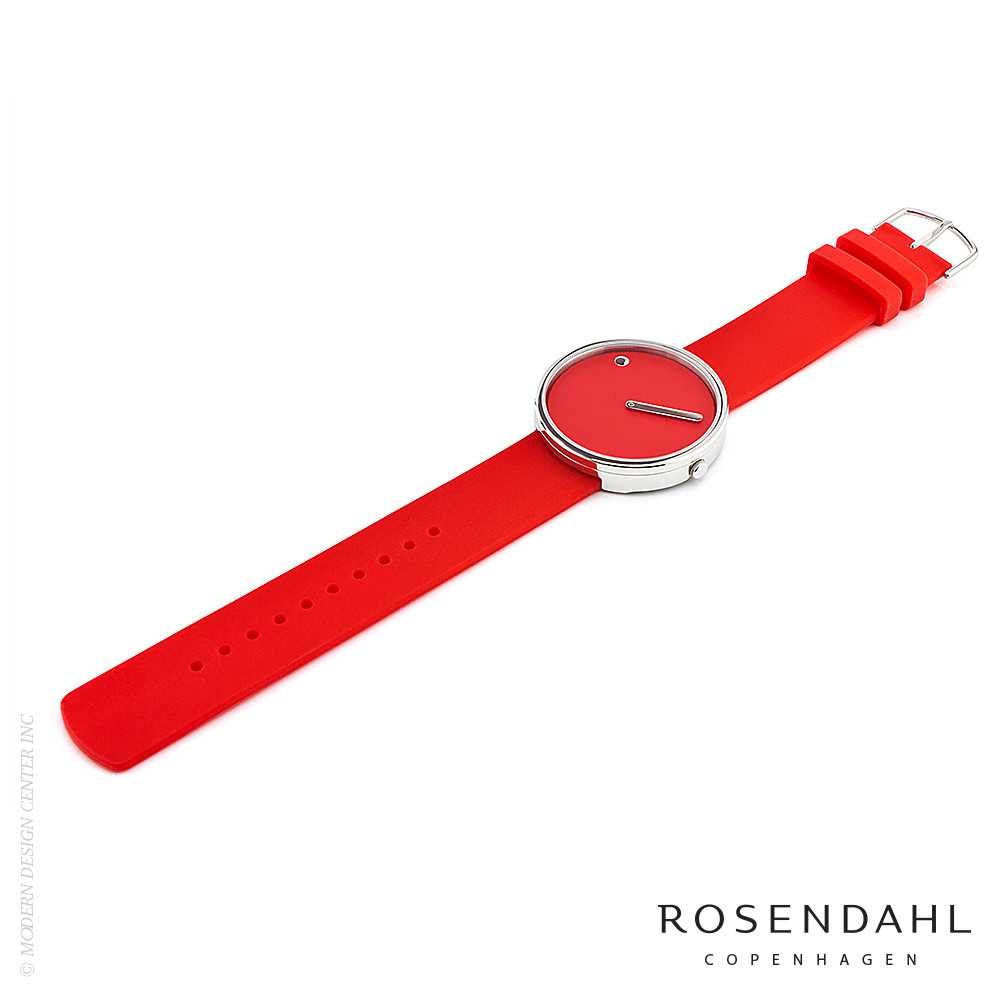 Picto Analog 40mm Watch Red | Rosendahl