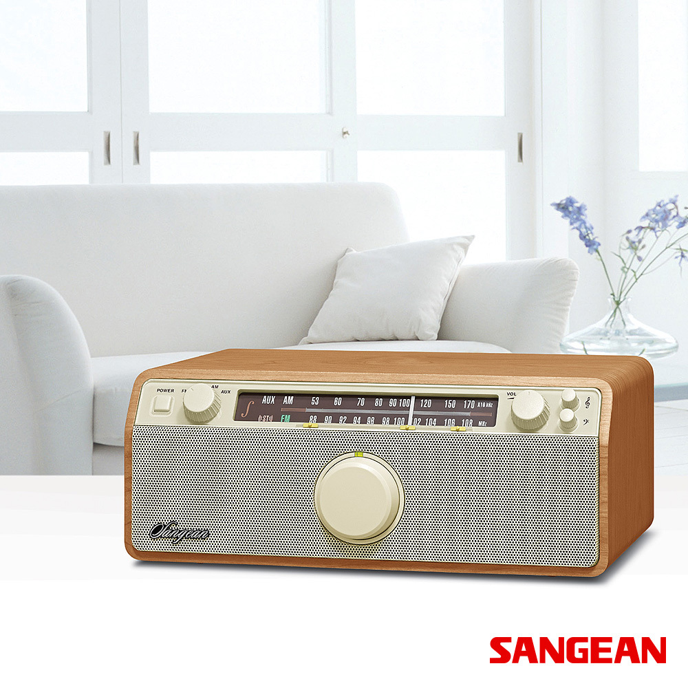AM FM AUX-In Analog Wooden Cabinet | Sangean