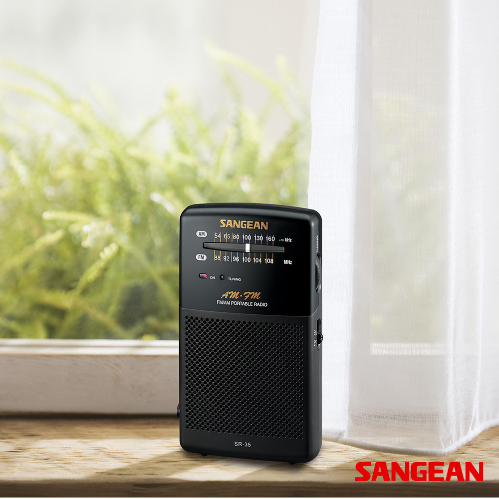 FM AM Hand-held Receiver with Built-in Speaker | Sangean