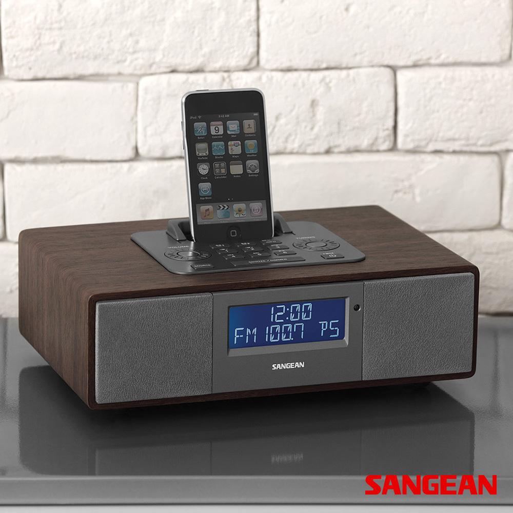 FM RBDS AM Aux-in Tabletop Wooden Cabinet | Sangean