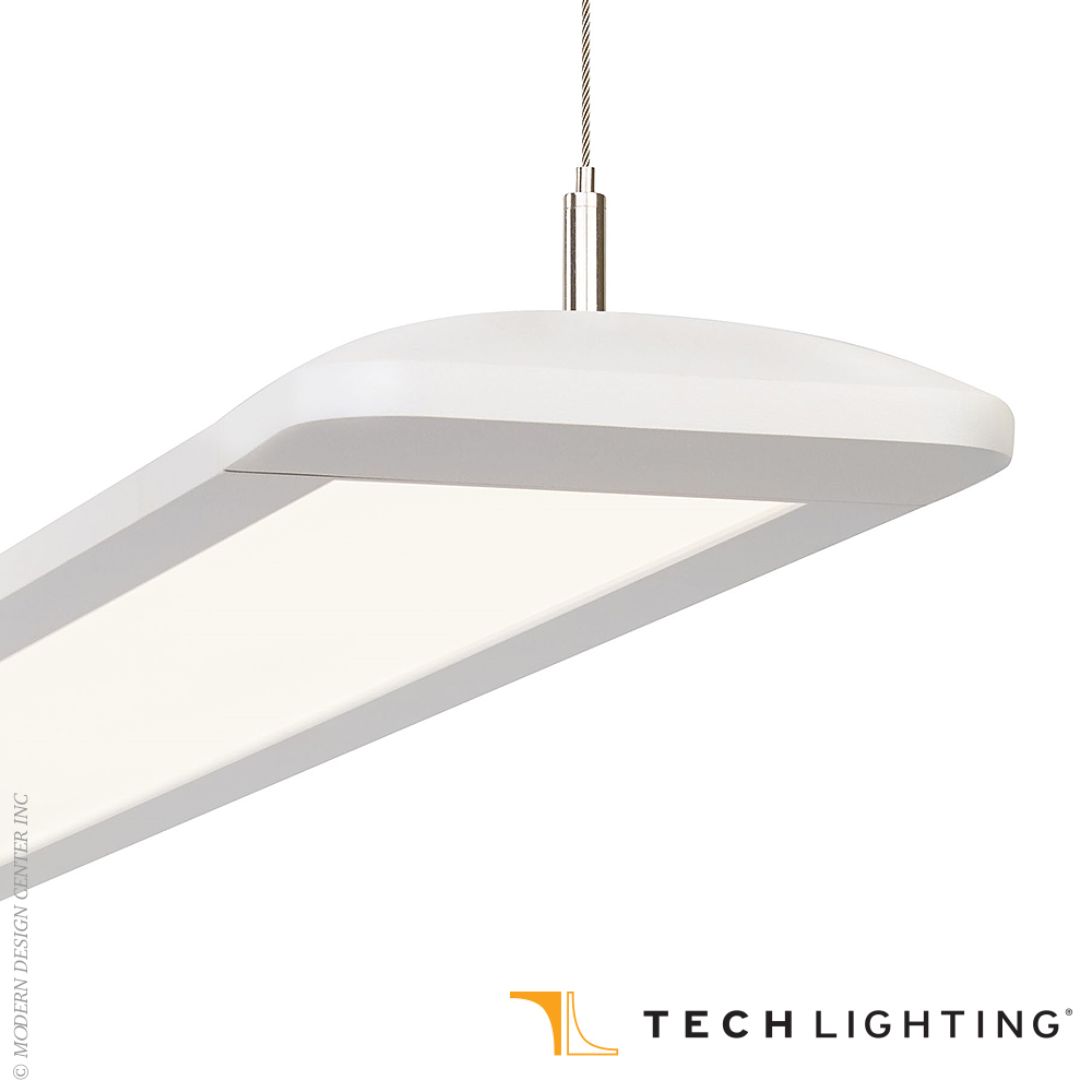 Gatica 8-ft LED Linear Suspension | Tech Lighting