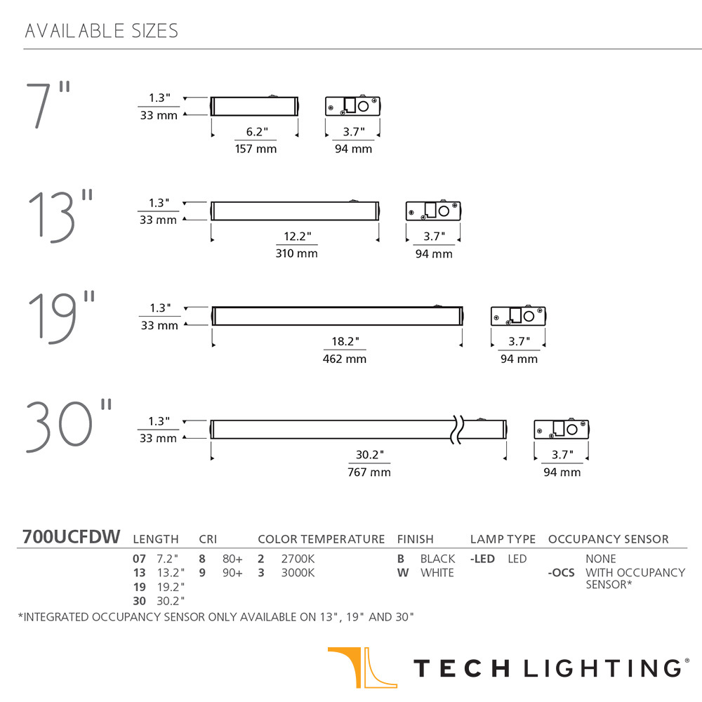 Unilume Led Direct Wire Undercabinet Light Tech Lighting