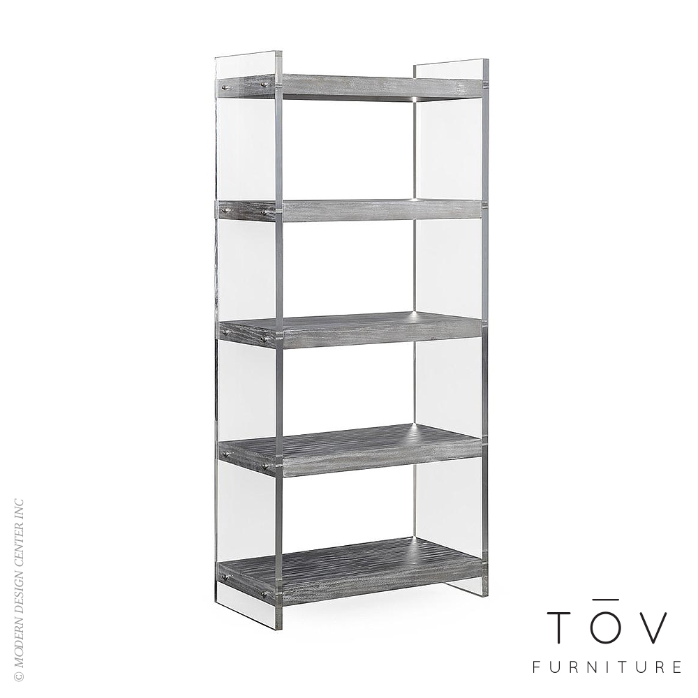 Berlin Lucite Bookcase | Tov Furniture