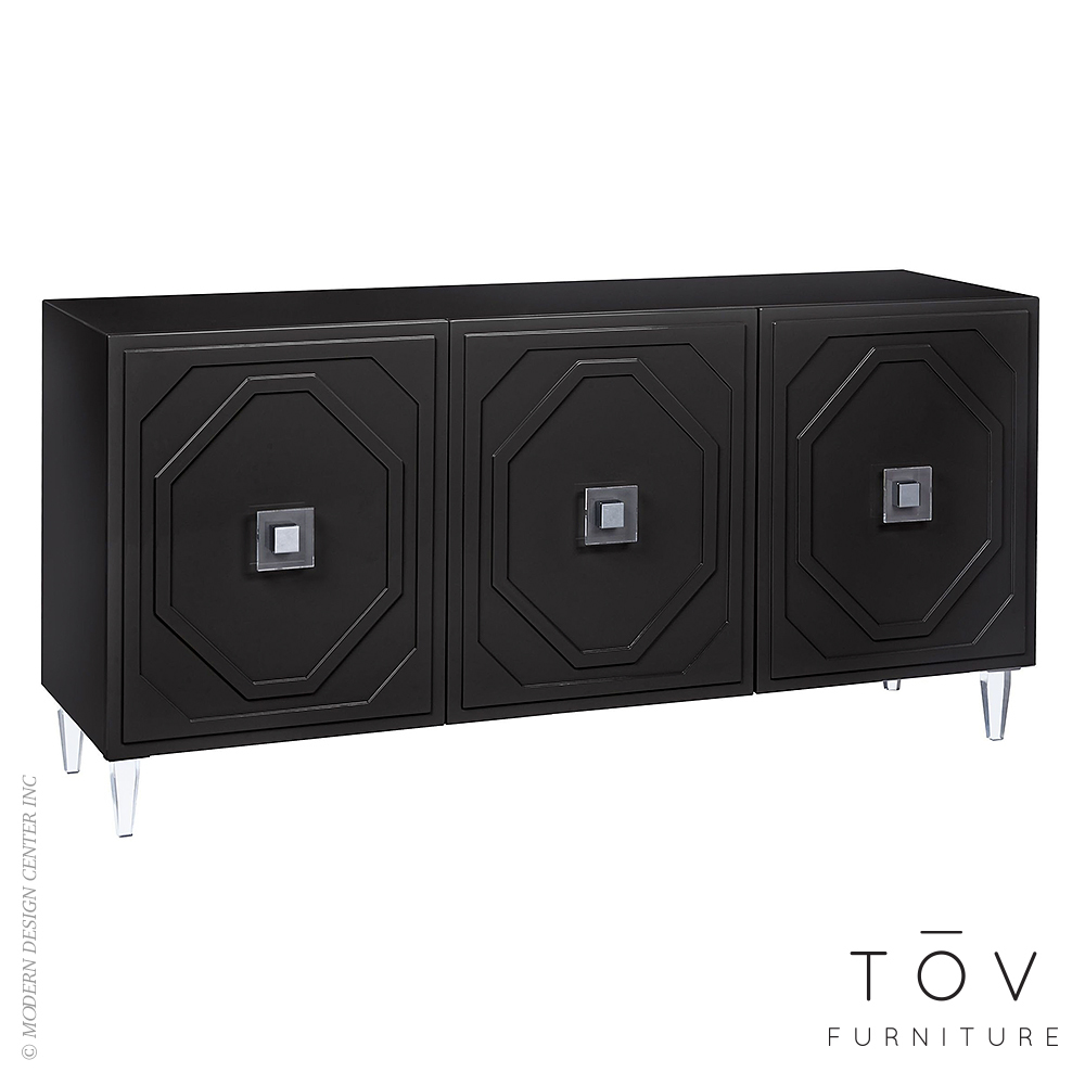 Andros Black Lacquer Buffet | Tov Furniture