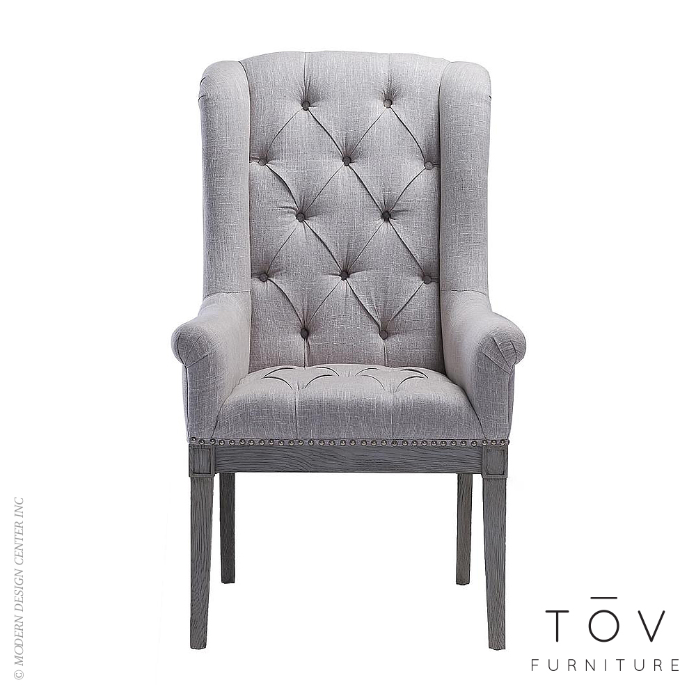 Addington Beige Linen Arm Chair | Tov Furniture
