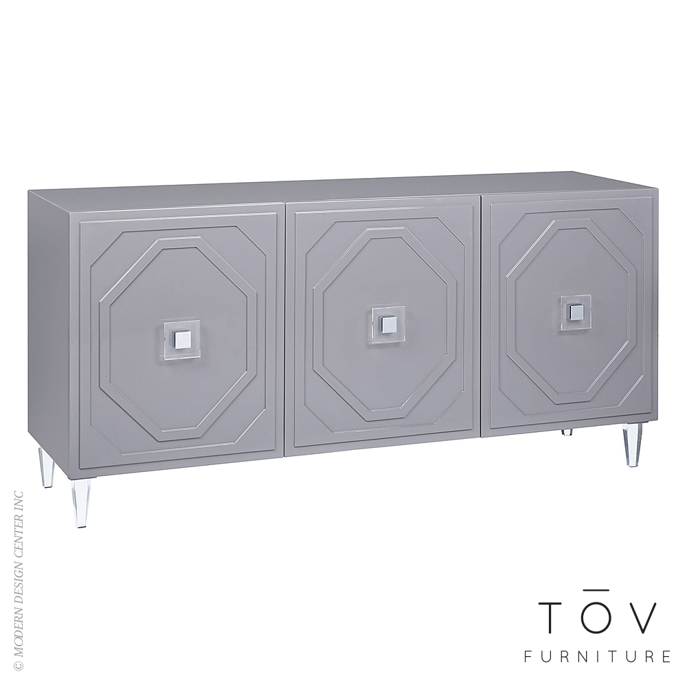 Andros Grey Lacquer Buffet | Tov Furniture