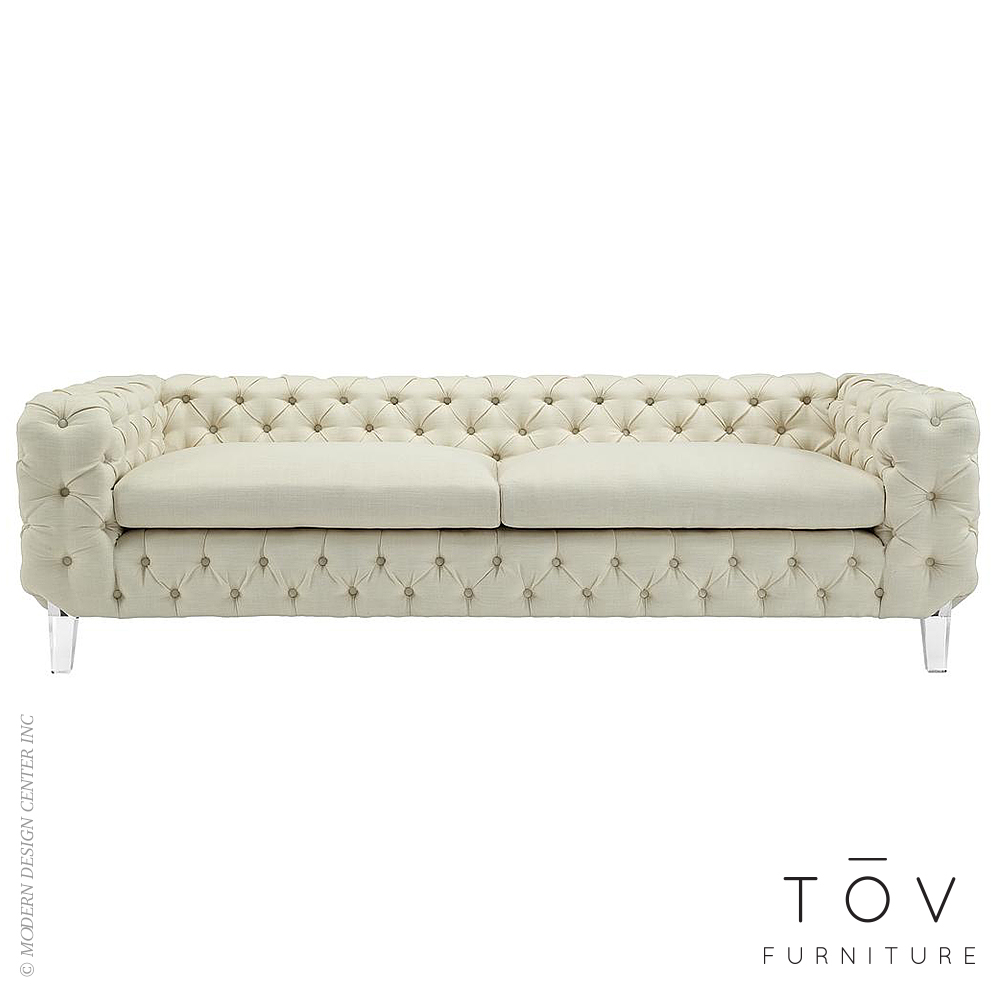Celine Beige Linen Sofa | Tov Furniture