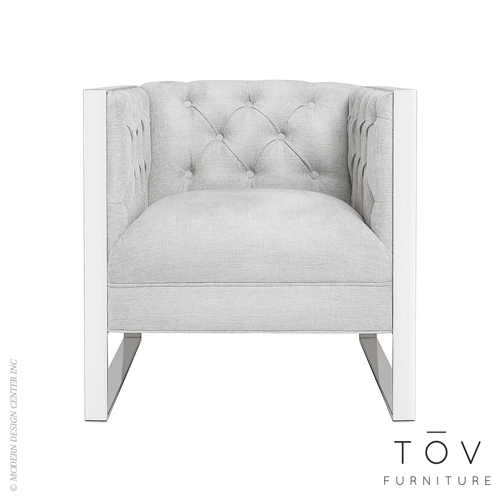 Farah Light Grey Chair | Tov Furniture