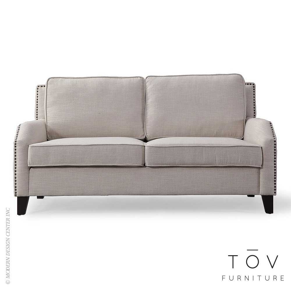 Hartford Beige Linen Loveseat | Tov Furniture