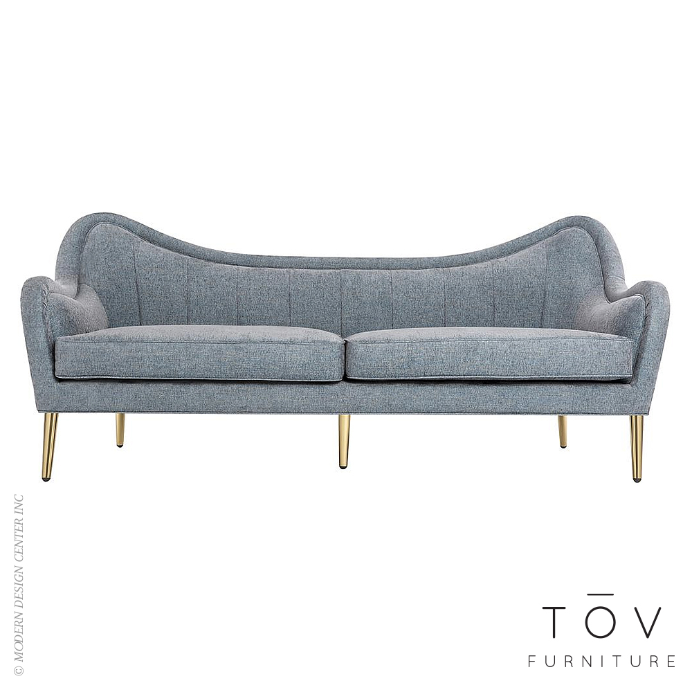 Isadora Grey Sky Sofa | Tov Furniture