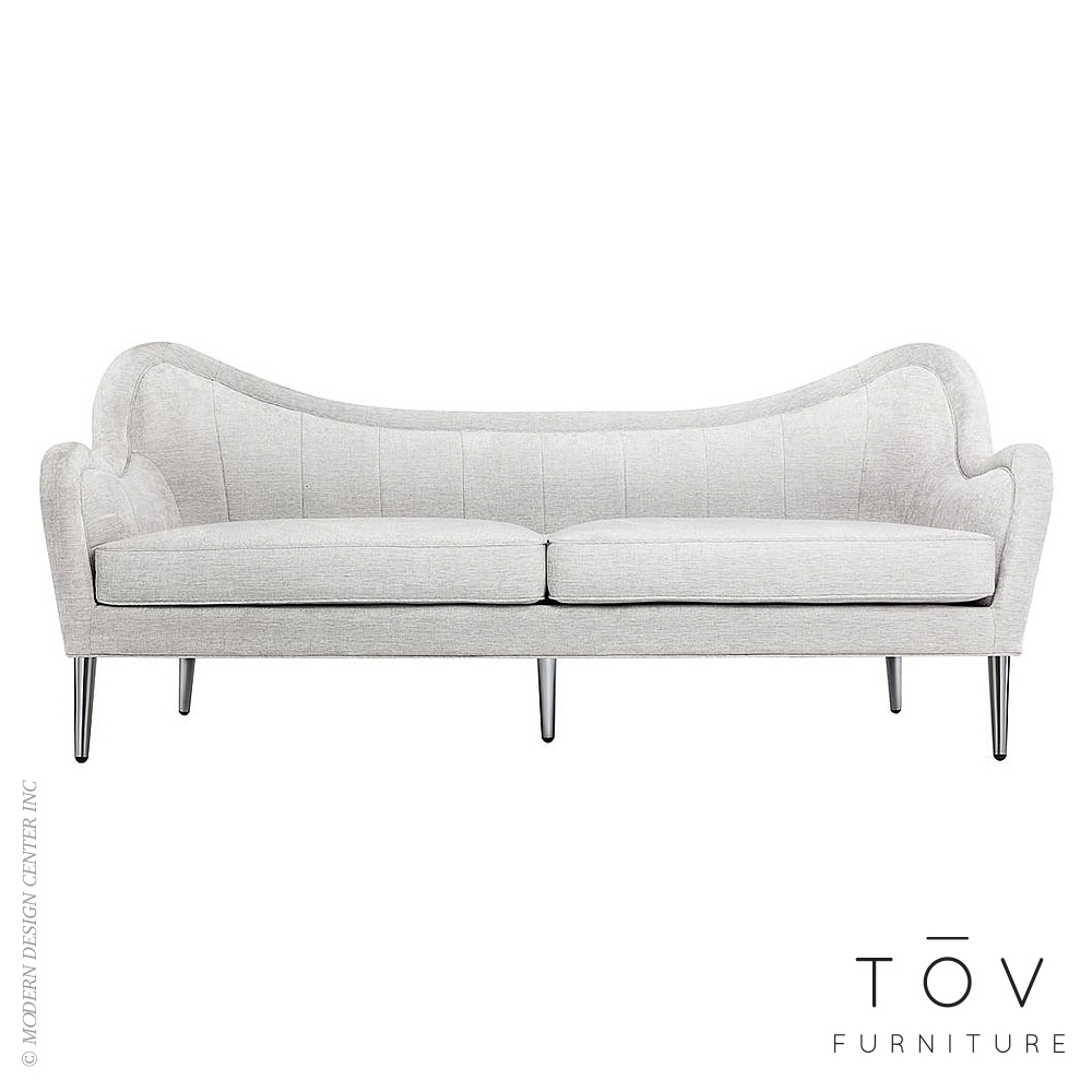 Isadora Light Grey Sofa | Tov Furniture