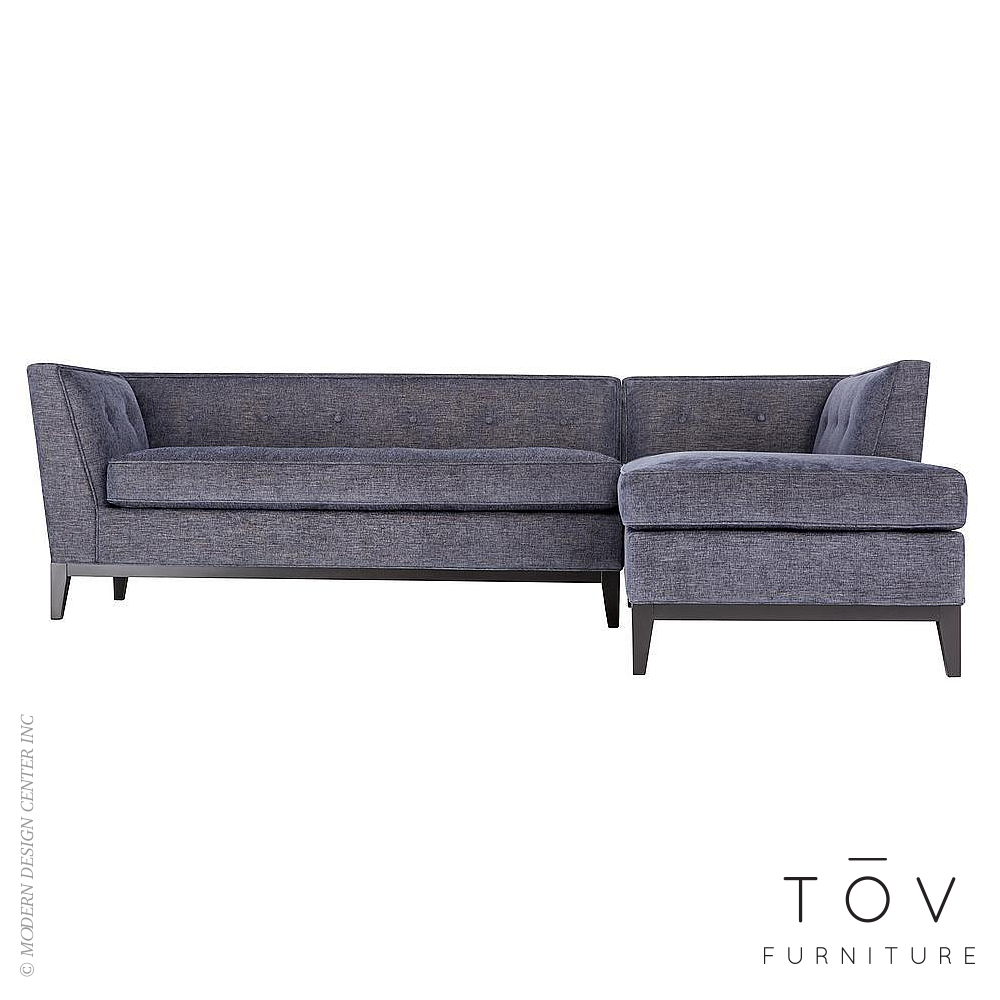 Jess Grey Linen RAF Sectional | Tov Furniture