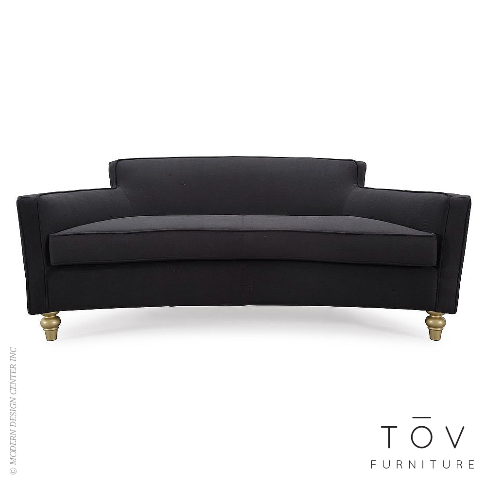 Oslo Black Herringbone Sofa | Tov Furniture