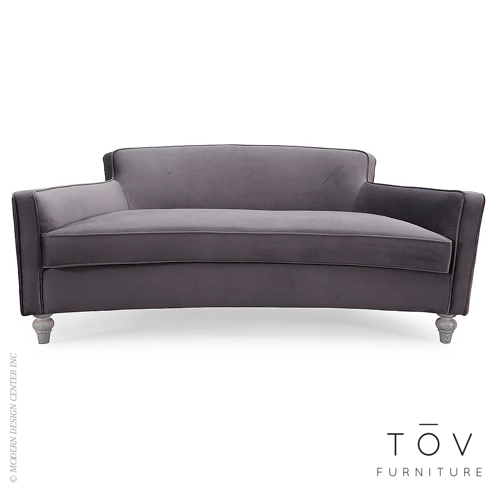 Oslo Grey Velvet Sofa | Tov Furniture