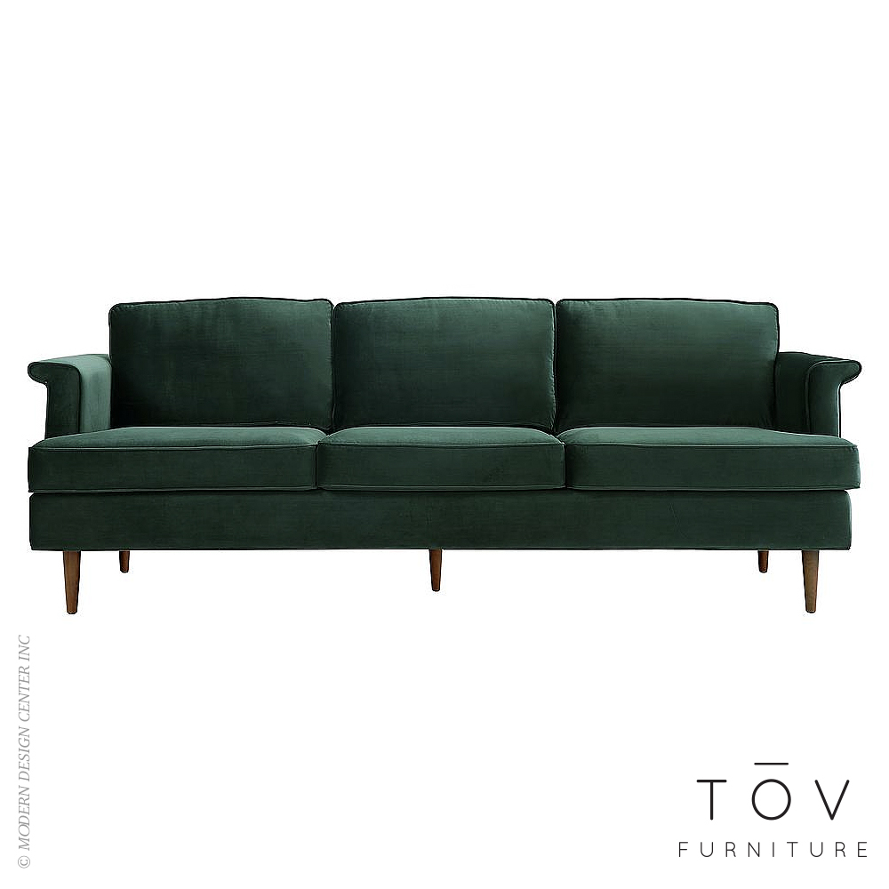 Porter Forest Green Velvet Sofa | Tov Furniture