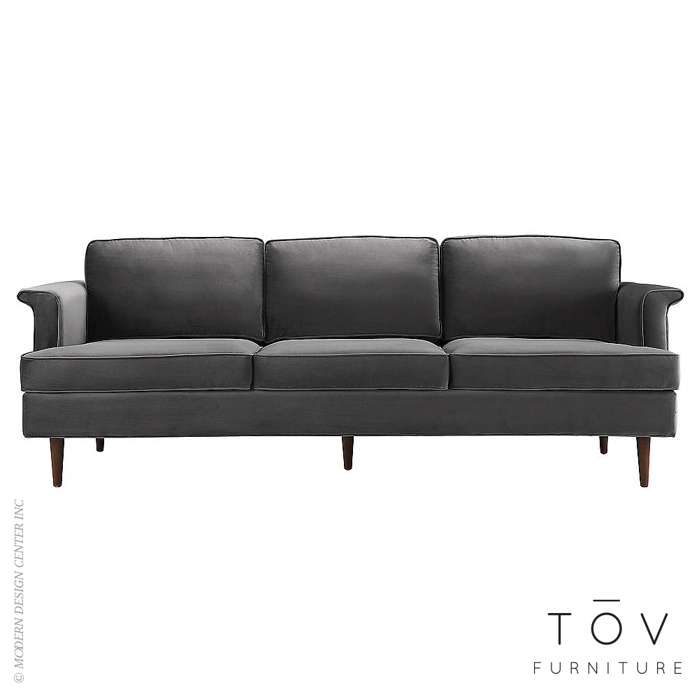 Porter Grey Velvet Sofa | Tov Furniture