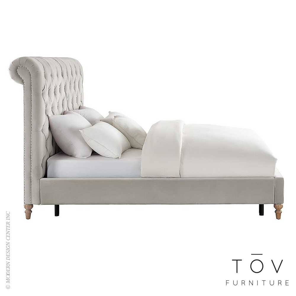 45a400b01d80e Add to My Lists. Putnam Grey Velvet Bed in Queen