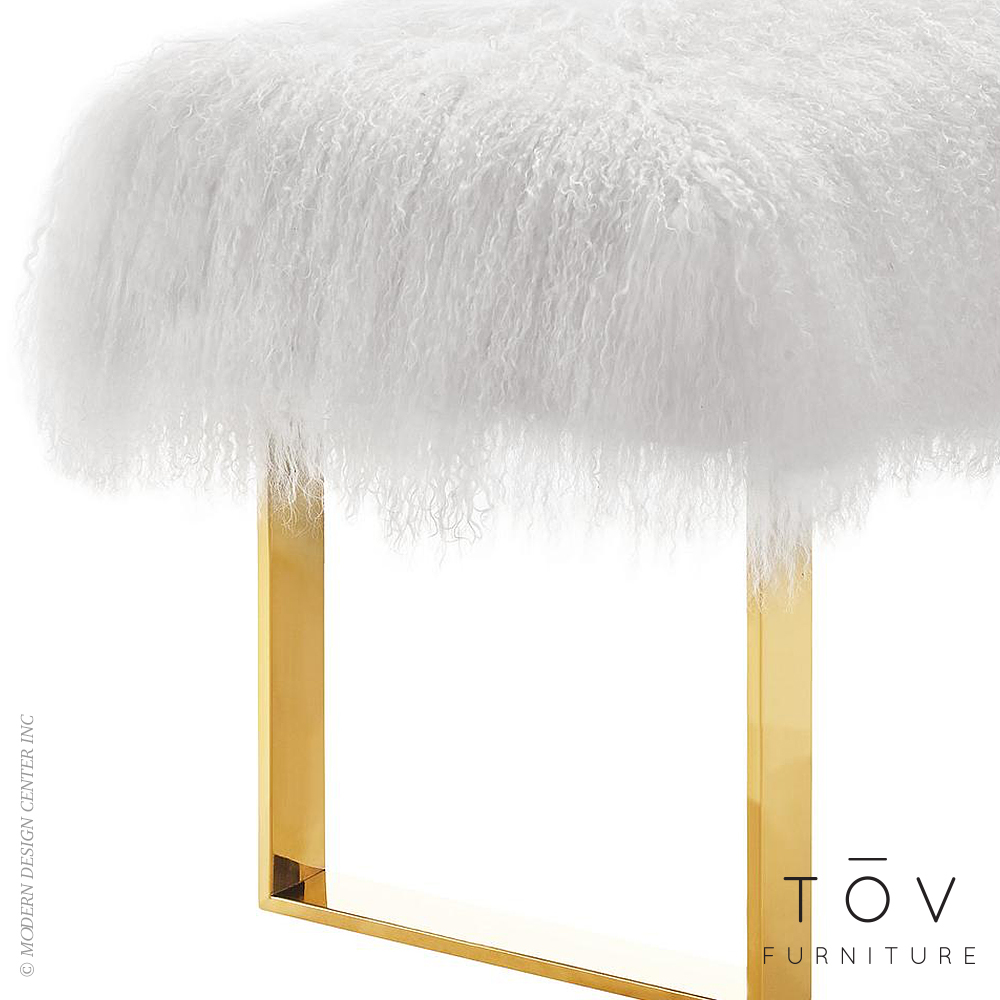 please to this item in furniture tov sheepskin purchase gold legs bench media or log from price see sherpa with