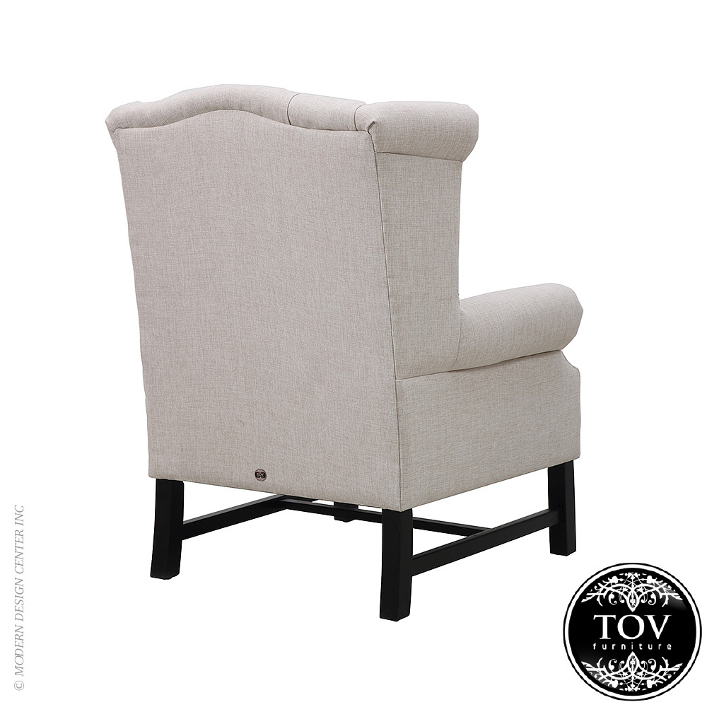 Fairfield Beige Linen Club Chair | Tov Furniture. Tap To Expand