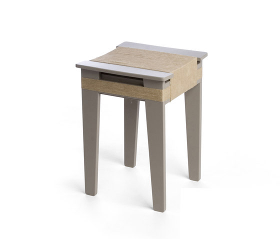 Wrapped Stool Gray | Vij5