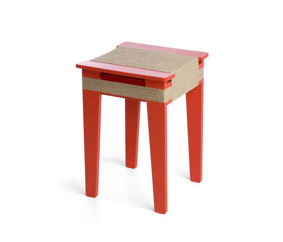 Wrapped Stool Light Red | Vij5