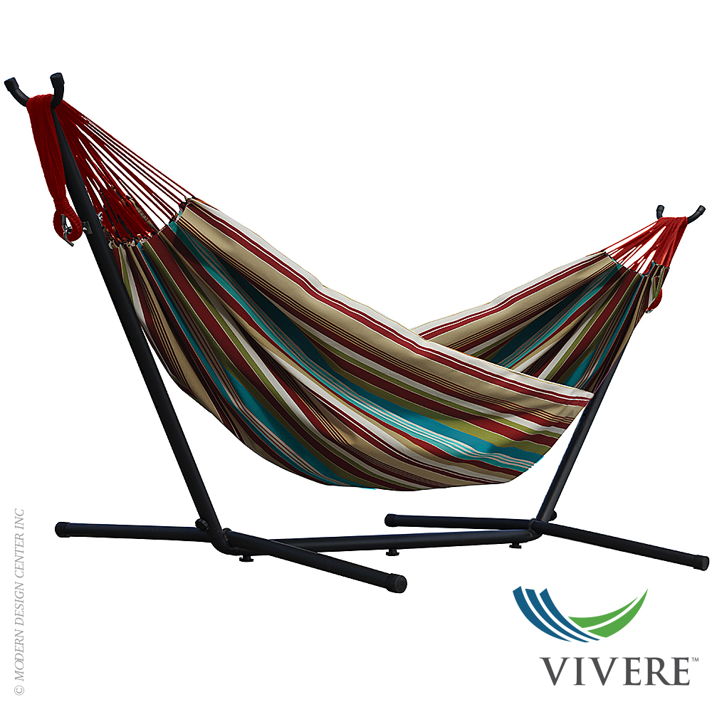 Double Cotton Hammock with Stand Combo | Vivere