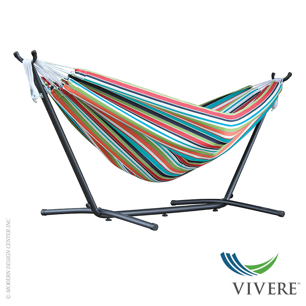 Double Polyester Hammock with Stand Combo | Vivere