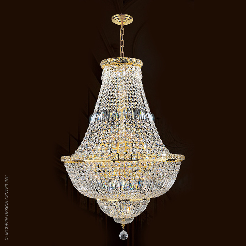 Empire Chandelier W83032G22 | Worldwide Lighting