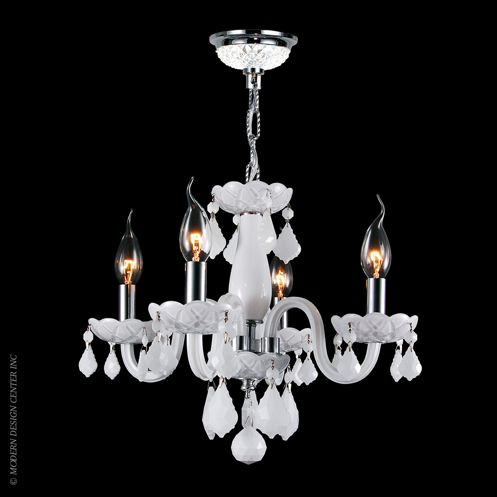 Clarion Chandelier W83100C16-WH | Worldwide Lighting