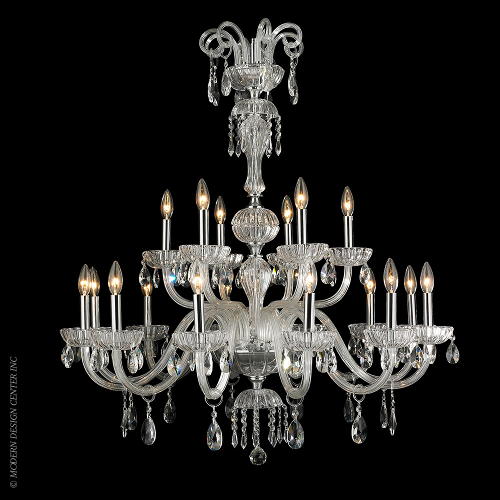 Carnivale Chandelier W83178C36-CL | Worldwide Lighting