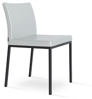 Aria Metal Dining Chair Leather | SohoConcept