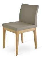 Aria Wood Dining Chair Leather | SohoConcept