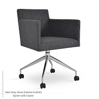 Harput Spider Swivel Arm Chair with Caster | SohoConcept