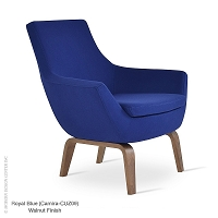 Rebecca Arm Chair Plywood Base | SohoConcept