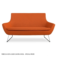 Rebecca Two Seater Wire Sled Base Wool | SohoConcept