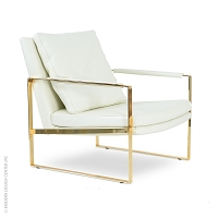 Zara Arm Chair Gold | SohoConcept