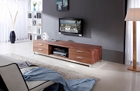 Promoter TV Stand, Light Walnut | B-Modern