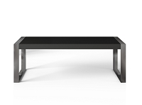 Savant Dining Table in Matte Black Brushed Stainless Steel | B-Modern
