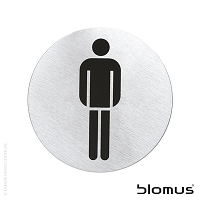 Signo Men's Restroom Door Sign | Blomus