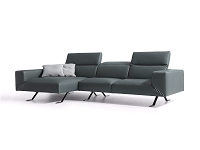 Henry Grey Italian Sectional| Whiteline